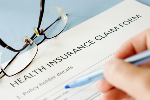 Picture of an insurance claim form.